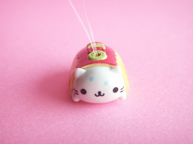 Photo1: Kawaii Cute Nyan Nyan Nyanko Burger Strap San-x *Hot Dog