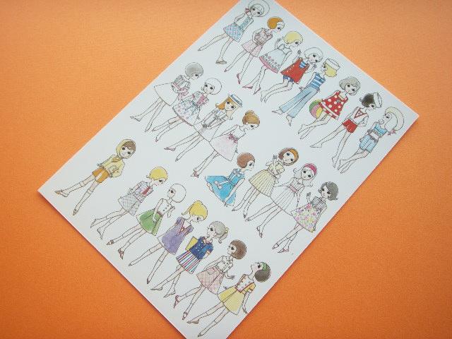 Photo1: Macoto Japanese Retro Illustration Postcard Cute Girls *14