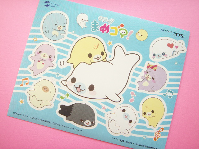 Photo1: Kawaii Cute Mamegoma Small Sticker Sheet Nintendo DS Novelty