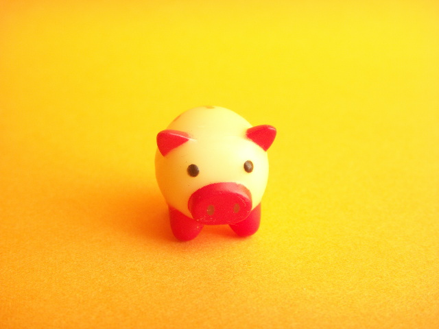 Photo1: Kawaii Cute Tiny Pig Doll Figure Toy Collection *Red-Victory