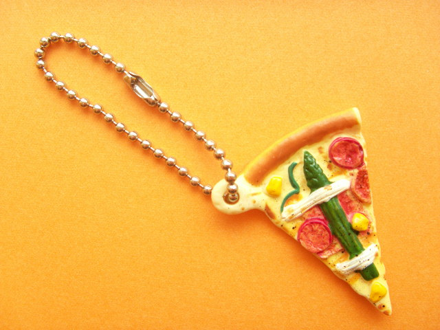 Photo1: Kawaii Cute PIZZA-LA Miniature Key Chain Charm Collection Joy's Special