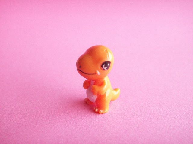 Photo1: Kawaii Cute Tiny Dinosaur Doll Figure Toy Collection *Orange