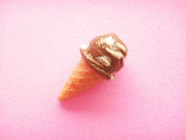 Photo1: Tiny Ice Cream Figure Toy Chocolate