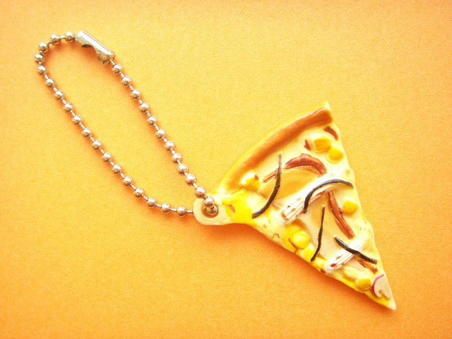 Photo1: Kawaii Cute PIZZA-LA Miniature Key Chain Charm Collection Teriyaki Chicken