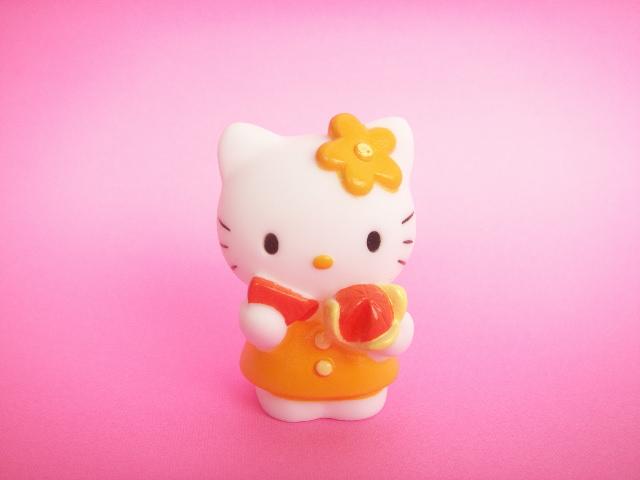 Photo1: kawaii Cute Hello Kitty Mascot Doll Collection  Japan Exclusive *Mandarin Orange
