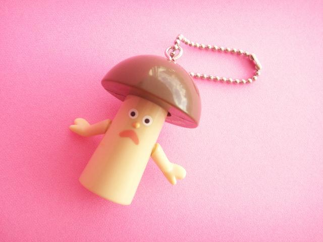 Photo1: Kawaii Cute Capelito Mushroom Swing Keychain Charm *Brown