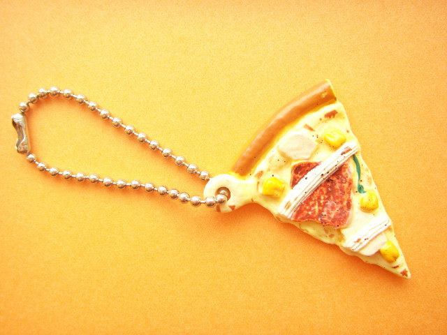 Photo1: Kawaii Cute PIZZA-LA Miniature Key Chain Charm Collection Monterey