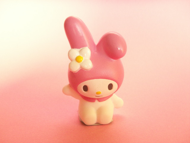 Photo1: Kawaii Cute My Melody Mini Figure Doll Pink Sanrio Japan