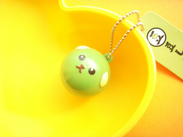 Photo1: Kawaii Cute Character Mameshiba Mini Keychain Charm *Green Soybean Medium