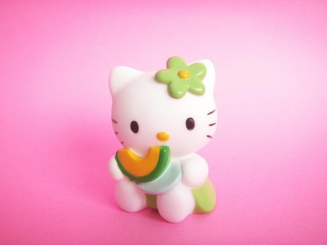 Photo1: Kawaii Cute Hello Kitty Mascot Doll Collection Japan Exclusive *Melon