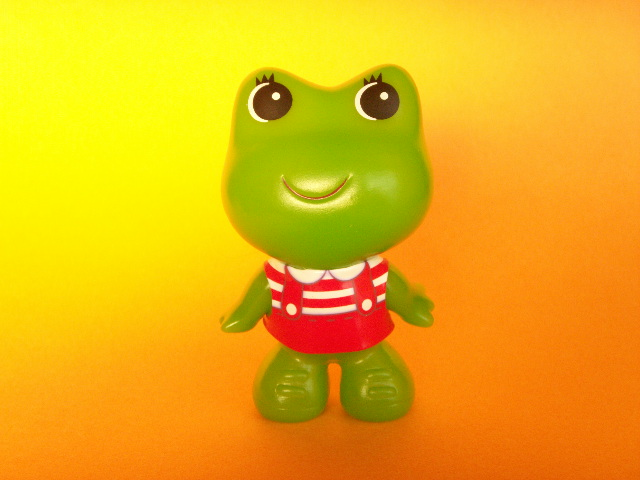 Photo1: Kawaii Cute Frog Girl Mini Mascot Doll Japanese Toy Red