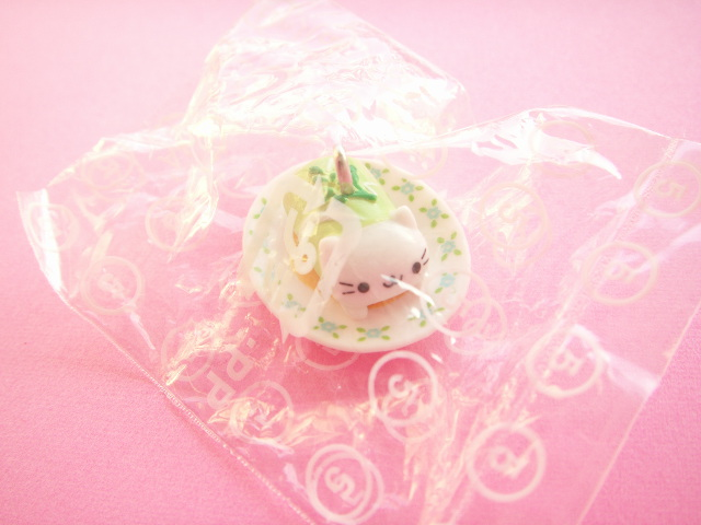 Photo1: Kawaii Cute Nyan Nyan Nyanko Craft Charm *Stuffed Cabbage
