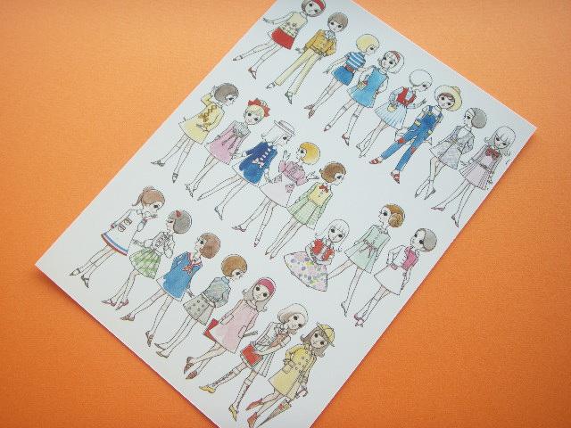 Photo1: Macoto Japanese Retro Illustration Postcard Cute Girls *15