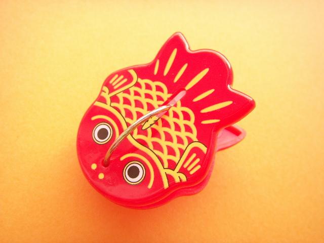 Photo1: Red Kingyo Goldfish Paperclip Stationery Novelty Goods