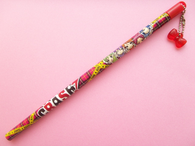 Photo1: Kawaii Cute Shojo Manga CRASH! Wooden Pencil with Charm
