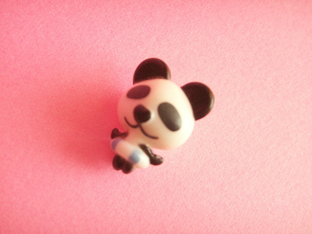 Photo1: Kawaii Cute Tiny Panda Doll Figure Toy Collection *Black