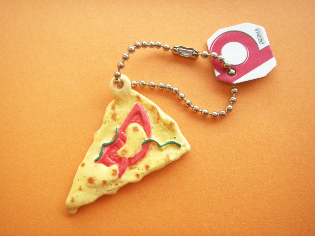 Photo1: Kawaii Cute PIZZA-LA Miniature Key Chain Charm Collection Italiana