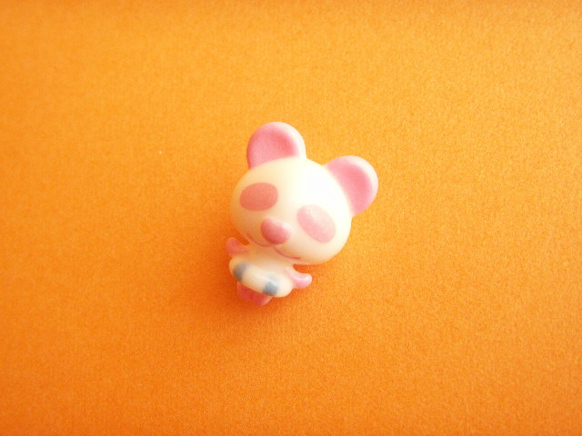 Photo1: Tiny Panda Doll Figure Toy Collection *Pink